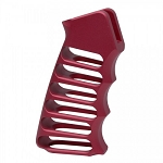 Skeletonized Billet Aluminum AR-15 Grip RED