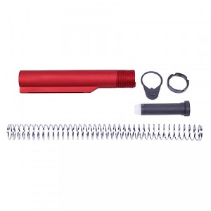 AR15 MIL-SPEC BUFFER TUBE SET (RED)